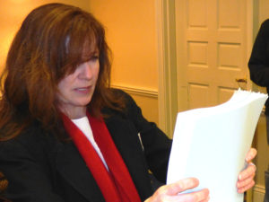 Caroline in Annapolis promoting Zero Waste to the state legislature
